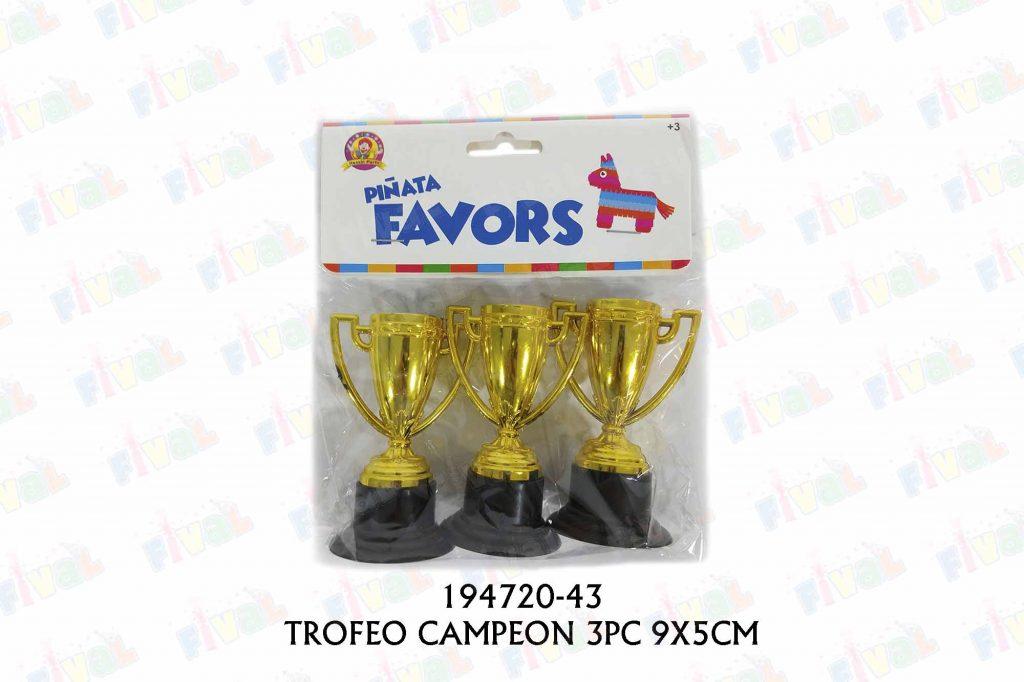 TROFEO CAMPEON 3PC 9X5CM